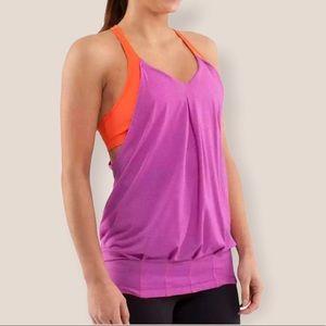 Lululemon violet dazzling practice freely tank top